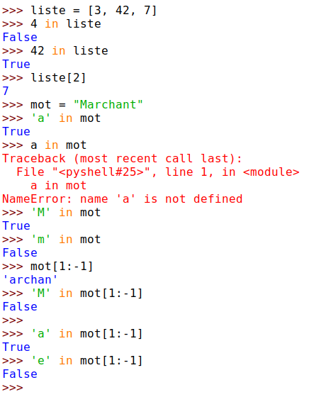 cm 2019-11-04 NSI reprise python - capture du shell - recherche dans liste ou mot