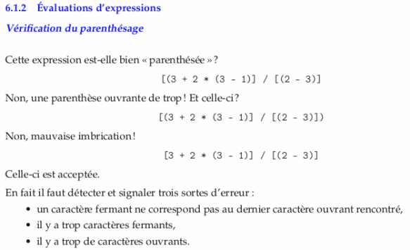 2020-04-27 CI application des piles 02 évaluation d'expression - parenthésage